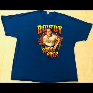 Vintage Rowdy Roddy Piper Shirt 2XL